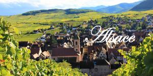Village Alsace etiquette